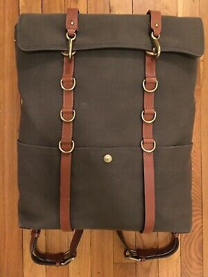 Mismo M/S Army Green Cuoio Backpack Bridle Leather Danish
