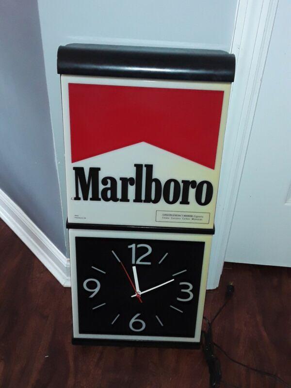 Marlboro Clock Light Up Sign