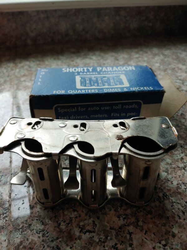 McGill Shorty Paragon 3 Barrel Changer - For Quarters Dimes & Nickels Coins