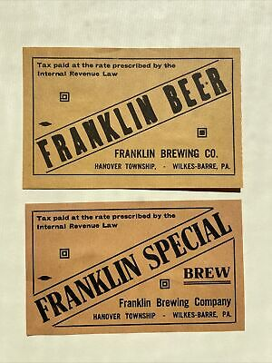 Franklin Beer Labels Wilkes Barre Pa