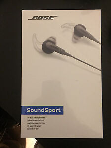 Bose sportsound headphones - charcoal