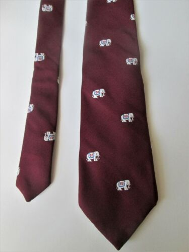 1988 REPUBLICAN CONVENTION Elephant Print MENS NECK TIE Party Politics POLITICAL