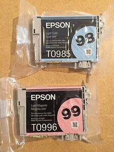 Epson genuine Printer Ink Cartridges (2 colours)