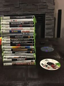 Xbox 360 with 20 games memory stick and 2 controllers