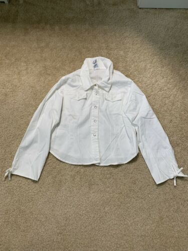 New Girls April Cornell White Dress Shirt Size 7/8