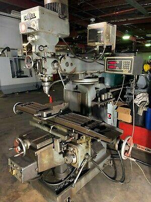 Doall Mdl 80-2446 10 X 49 Heavy Duty Vertical Mill Dro Vari-speed Tooling