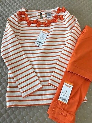 Gymboree Girls Size 7 Shirt and Pant Outfit for Halloween or Thanksgiving NWT