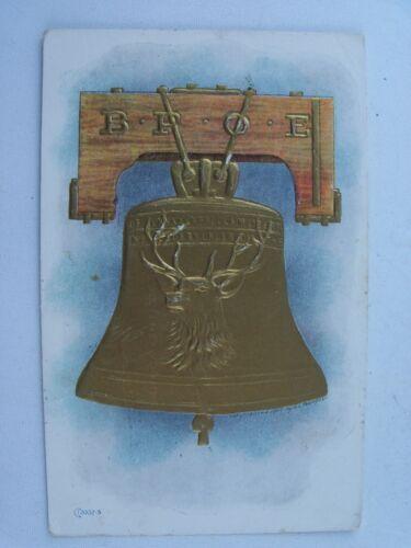 Vintage 1908 Elks Lodge BPOE Benevolent Protective Order of Elks BELL Postcard