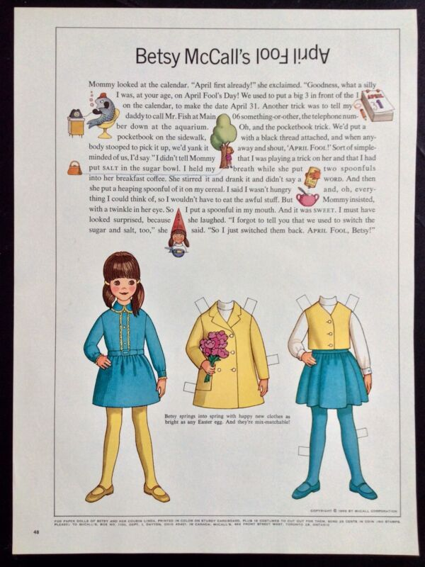 Vintage Betsy McCall Mag. Paper Doll, Betsy McCall