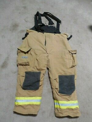 52x29 Pants Firefighter Turnout Bunker Fire Gear With Suspenders Fire-dex 409