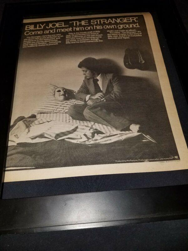 Billy Joel The Stranger Rare Original Promo Poster Ad Framed! #3