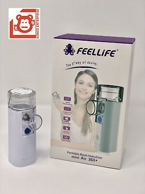 Feellife Portable Mesh Ultrasonic Nebulizer Mini Air 3601 Yr Factory Warranty