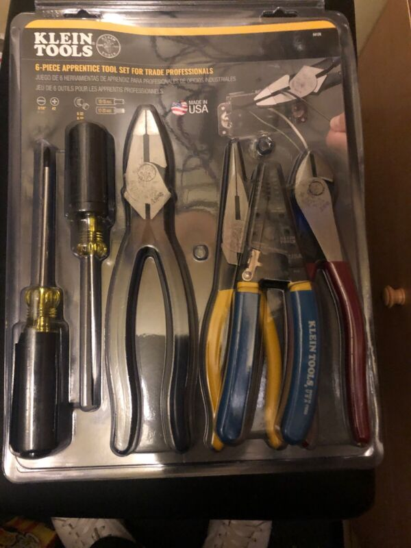 Klein Tools Apprentice Electrical Tool Set Cutting Pliers Screwdriver 6 Piece