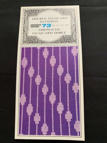 PC422 SILVER REED KNITTING MACHINE PUNCH CARDS PATTERNS SERIES 73 351-360