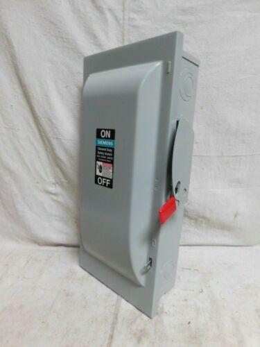 SIEMENS GF223N Safety Switch, 1 NEMA Enclosure Type, 100 Amps AC, 15 HP @ 240VA