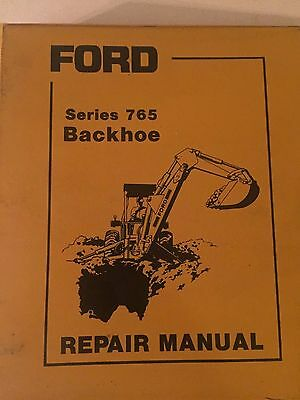 Ford 765 Tractor Backhoe Attachment Original Repair Manual Binder