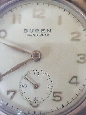 Buren Grand Prix 9ct Gold Watch