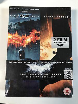 The Dark Knight/Batman Begins (DVD, 2012, 4-Disc Set, Box Set) BRAND NEW...