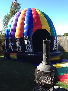Disco Dome Jumping Castle-disco lighting + sounds system inside Brisbane South East Preview