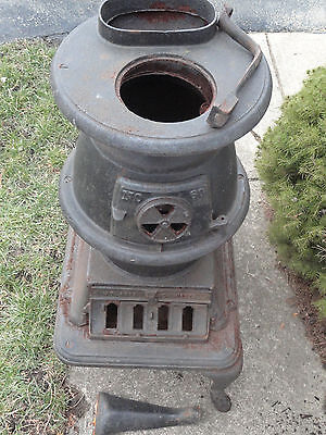 Atlanta Stove Works Pot Bellied Antique Wood Stove #60     Coal Burner