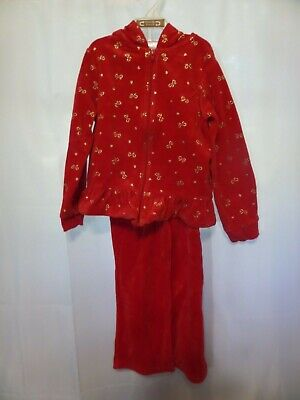 Cute Christmas 2 Piece Hoodie Outfit Toddler Size 5T Red & Gold Bows and Hearts](Cute Toddler Christmas Outfits)