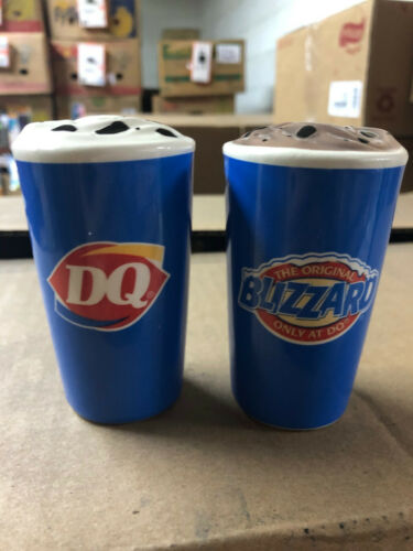 Dairy Queen DQ Salt and Pepper Shakers Blizzard collectable Gift New Memorabilia
