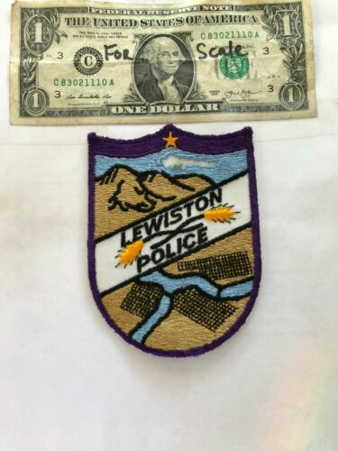 Lewiston Idaho Police Patch Un-sewn in great shape