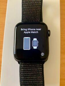 Apple Watch Series 4 GPS Cell 44mm Space Grey with black sport loop L  Bacchus Marsh Moorabool Area Preview