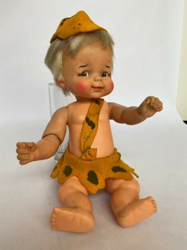 FLINTSTONES BAM BAM Doll  Vintage Hanna Barbera 1960s