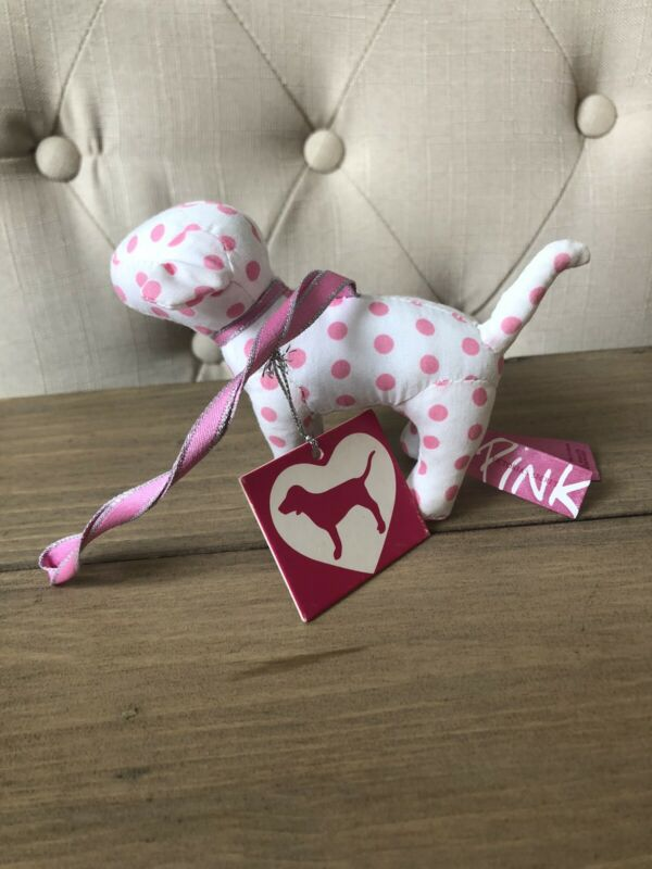 Victoria's Secret VS PINK Vintage Dog Pup Ornament! NEW! Rare HTF