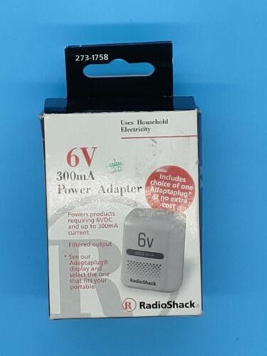 NOS Radio Shack 300mA NIB AC Power Adapter 273-1758 120V 60Hz 4W, Output 6 VDC