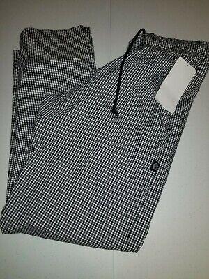 New Chef Works Nbcp Checkered Baggy Designer Chef Pants Medium New Uniform