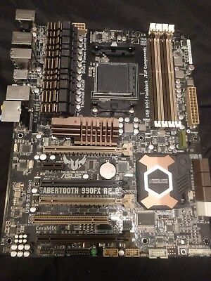 Used ASUS Sabertooth 990FX R2.0 AM3+ Motherboard - No Box, No Backplate, As-Is
