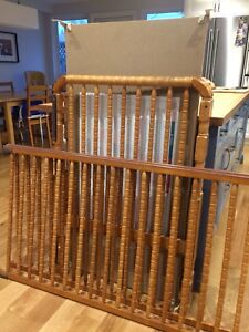 Oak Crib, Organic Mattress and Change Table