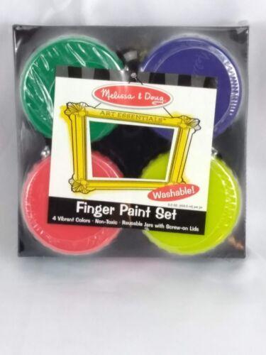 Melissa & Doug Washable Finger Paint Set 4 Colors Snap-On Lids 4146 Ages 3+
