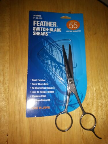 New Feather Scissors Shears Switch Blade Hair Styling New 5