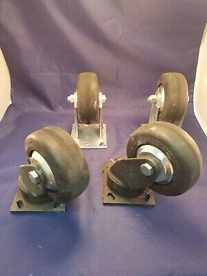 Set Of Darcor 4 Industrial Casters