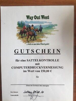 Gutschein Way Out West Sattelkontrolle Mit Computerdruckvermessung 150€