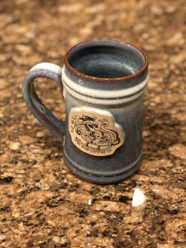 #164 Iron Bean Coffee Company Mug Yuletide 2020 Stein Christmas Santa Sled Owl