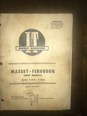 Massey Ferguson 175 180 It Manual