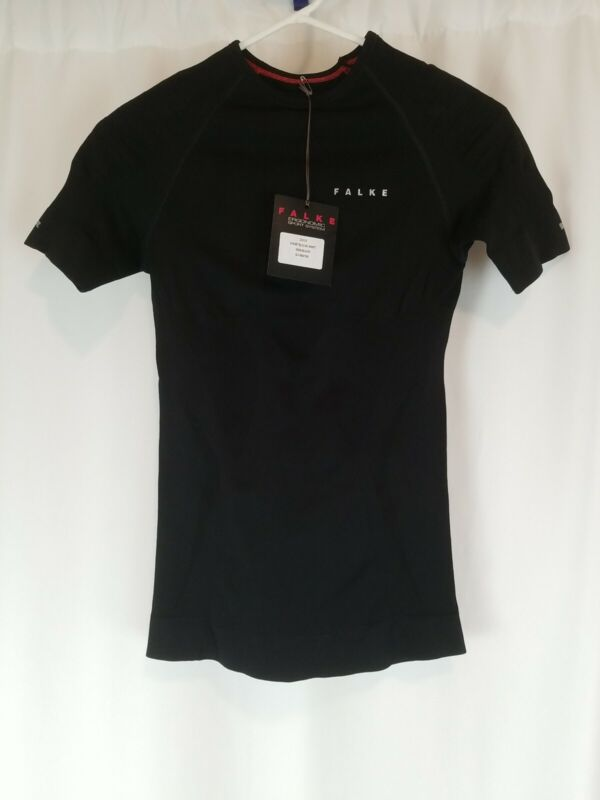 Falke Womens Short Sleeve Shirt - Black