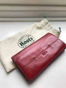 Roots Red Trifold Wallet
