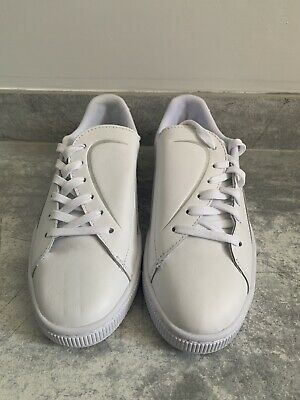 BNWT Women's White Basket Crush Emboss Puma Trainers UK 4.5 (EU 37.5)