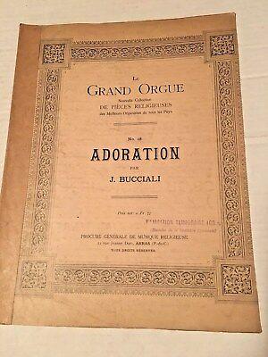 Vintage Sheet Music LE GRAND ORGUE No. 18 ADORATION par - Adoration Sheet Music