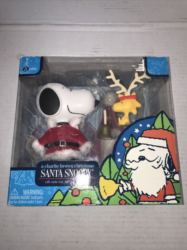 Charlie Brown Christmas Santa Snoopy and Woodstock figures new in box (2007)