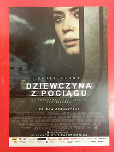 Emily Blunt - The Girl on the Train - Polish promo FLYER #2 - <span itemprop=availableAtOrFrom>Gdynia, Polska</span> - Emily Blunt - The Girl on the Train - Polish promo FLYER #2 - Gdynia, Polska
