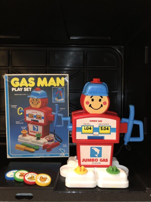 Vintage 1980's Gas Man Play Set