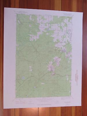 South Range Michigan 1976 Original Vintage USGS Topo Map