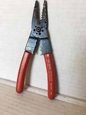 Milbar 46e Wire Cutter Stripper Crimper Pliers 10-20 Awg Wire Size Usa Klein