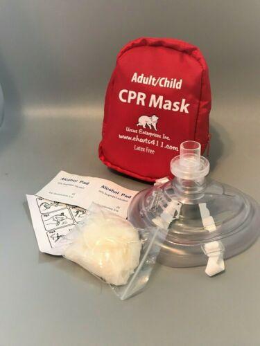 50 Adult/Child Pocket CPR mask Soft case with Gloves